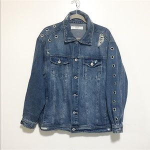 Brand new / Zara hole denim jacket